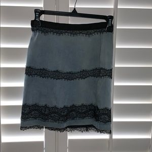 Topshop Skirts - Topshop Tall Denim Lace Skirt